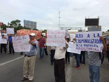 Una protesta en Oaxaca.