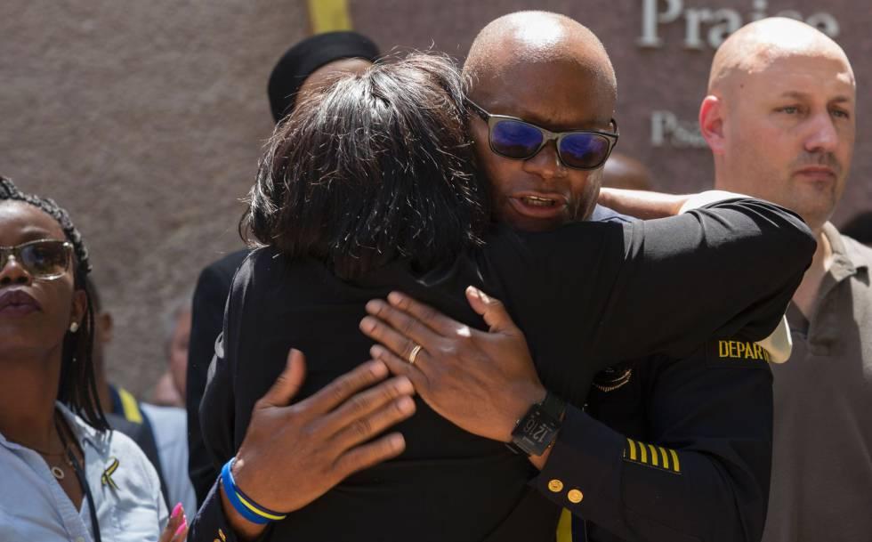 El jefe de la policía de Dallas, David Brown, en un homenaje a las víctimas el pasado día 8.