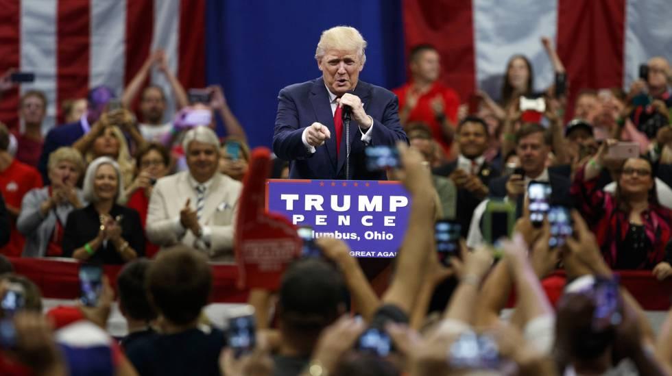 Donald Trump, en un mítin durante su campaña electoral.