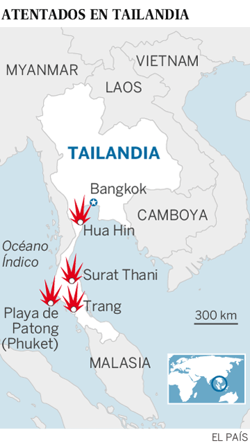Atentados en Bangkok - Cadena de atentados en Tailandia