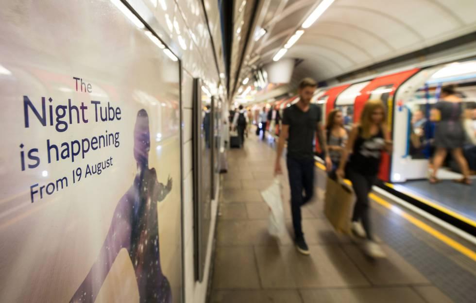 Metro nocturno en Londres