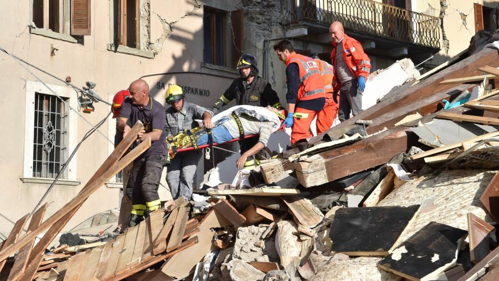Un terremoto de magnitud 6 sacude el centro de Italia