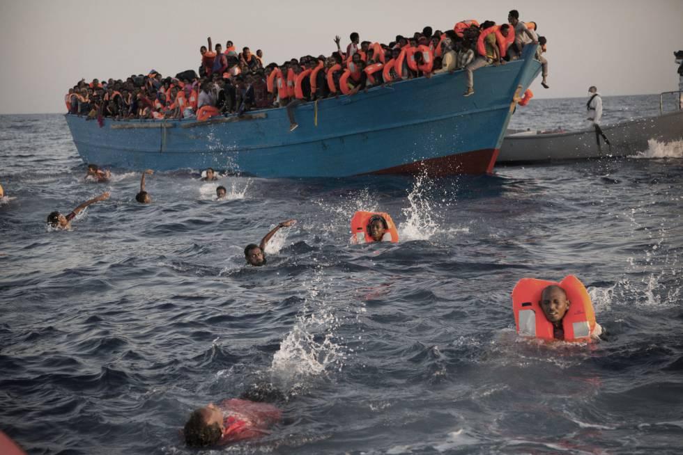 Emigrantes muertos Mediterráneo
