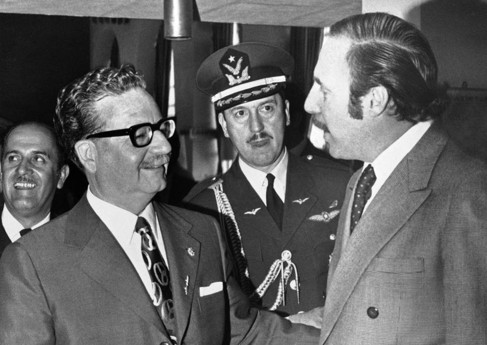 Salvador Allende (left) and Orlando Letelier.