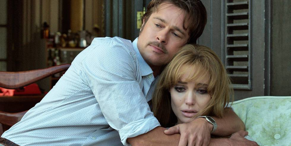Cena do filme 'By the Sea' (2015), estrelado por Angelina Jolie e Brad Pitt.