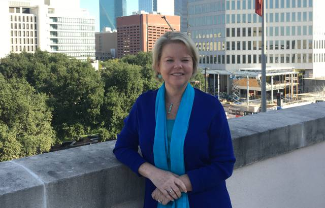 Keven Ann Milley, en la terraza del Dallas Morning News en Dallas, Texas.
