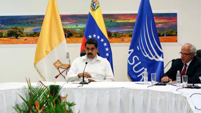 Nicolás Maduro, durante o encontro.