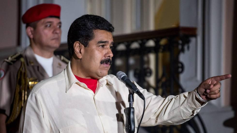 Nicolás Maduro durante entrevista coletiva após o início do diálogo entre o Governo e a oposição.