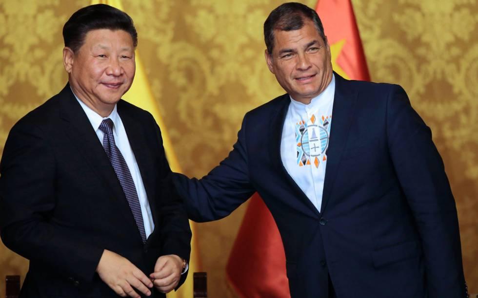 Xi Jinping y Rafael Correa, en Quito en 2016.