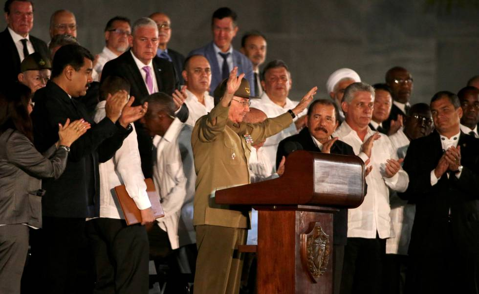 Raúl Castro during his address on Tuesday.