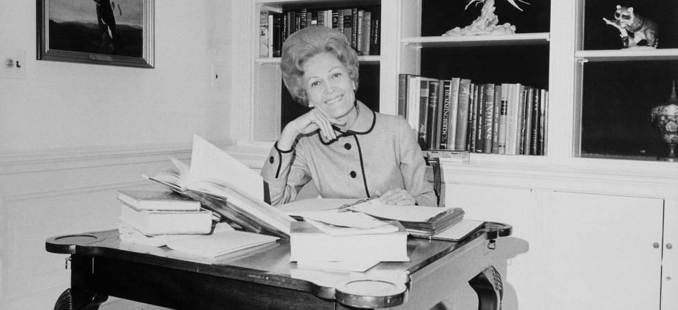 Pat Nixon, en La Casa Blanca.