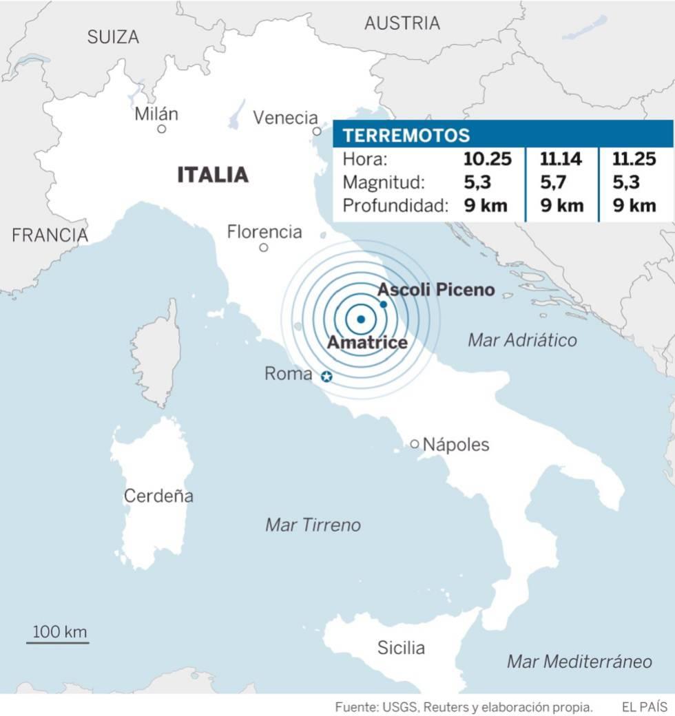 Cuatro fuertes terremotos siembran el pnico en el centro de