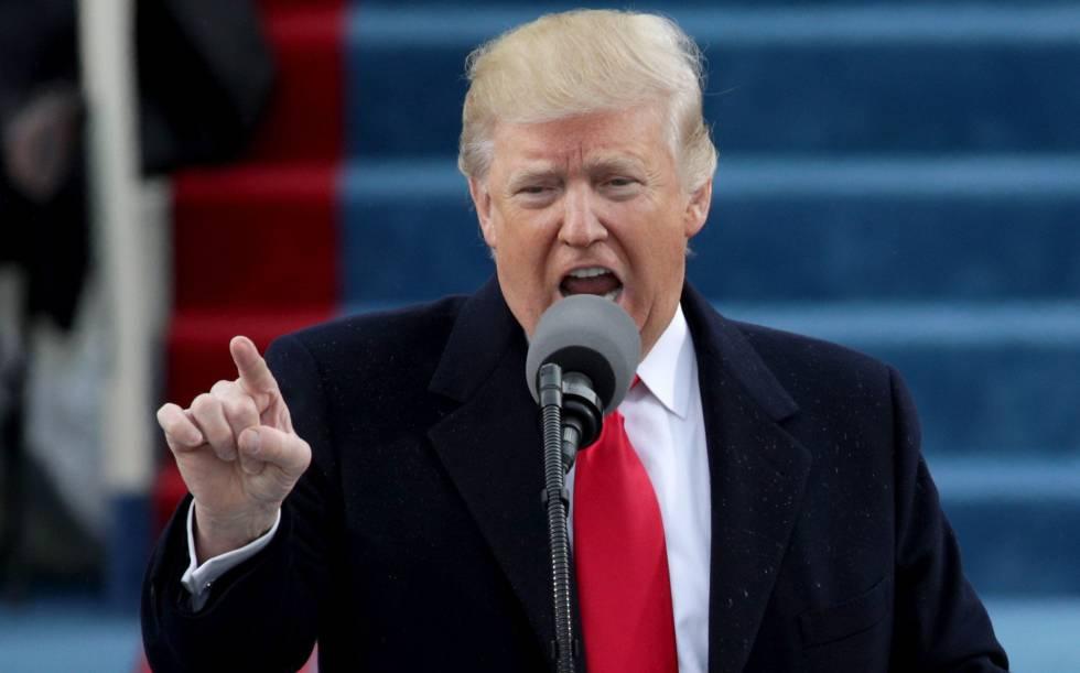 Donald Trump en la toma de posesión