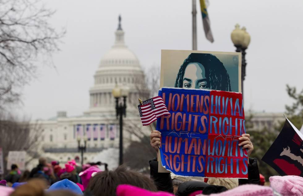 Resultado de imagen para marcha de mujeres contra trump