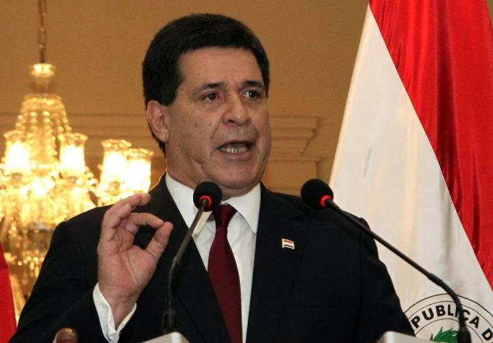 O presidente de Paraguai, Horacio Cartes.