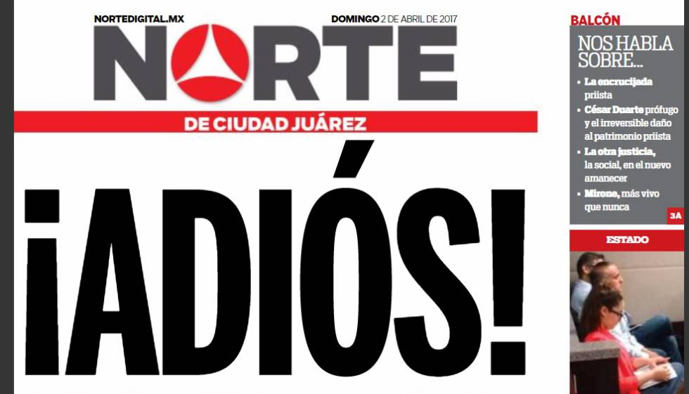 Violence against press in Mexico: Mexican newspaper 'Norte