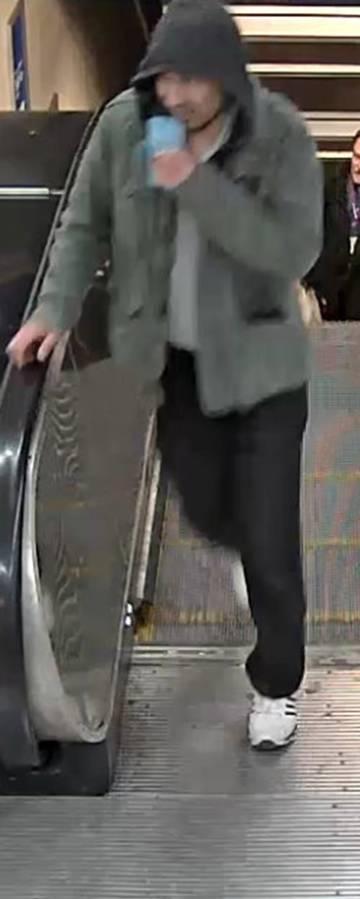 La imagen del sospechoso difundida por la policía.