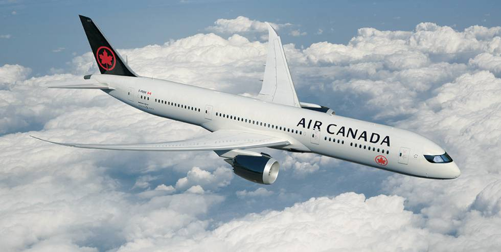 Resultado de imagen para El avión de Air Canadá