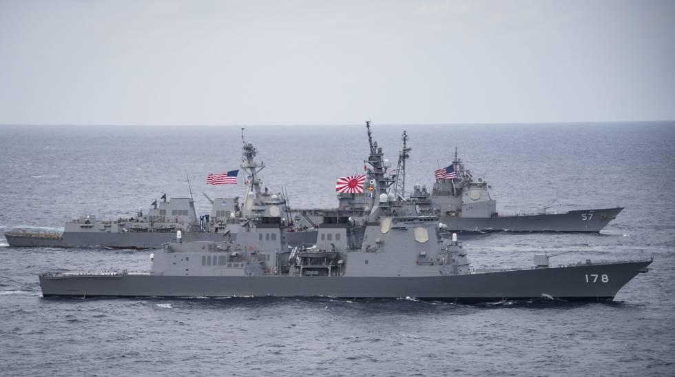 Las fuerzas estadounidenses y las surcoreanas en unas maniobras conjuntas.