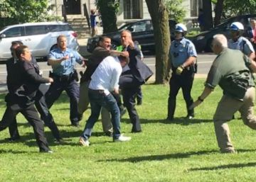 Los guardaespaldas de Erdogan agreden a manifestantes en Washington
