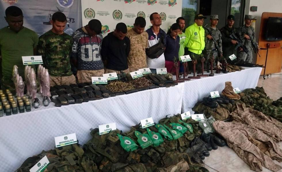Detención de ocho integrantes del Clan de Golfo en el departamento de Antioquia.