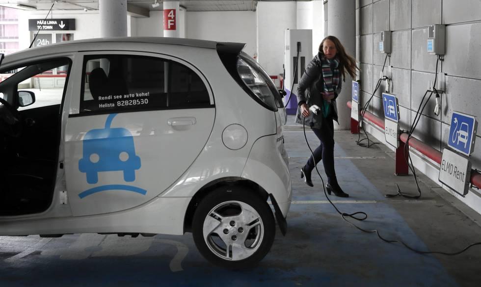 A User At Electric Car Hire Firm Elmo In Tallinn