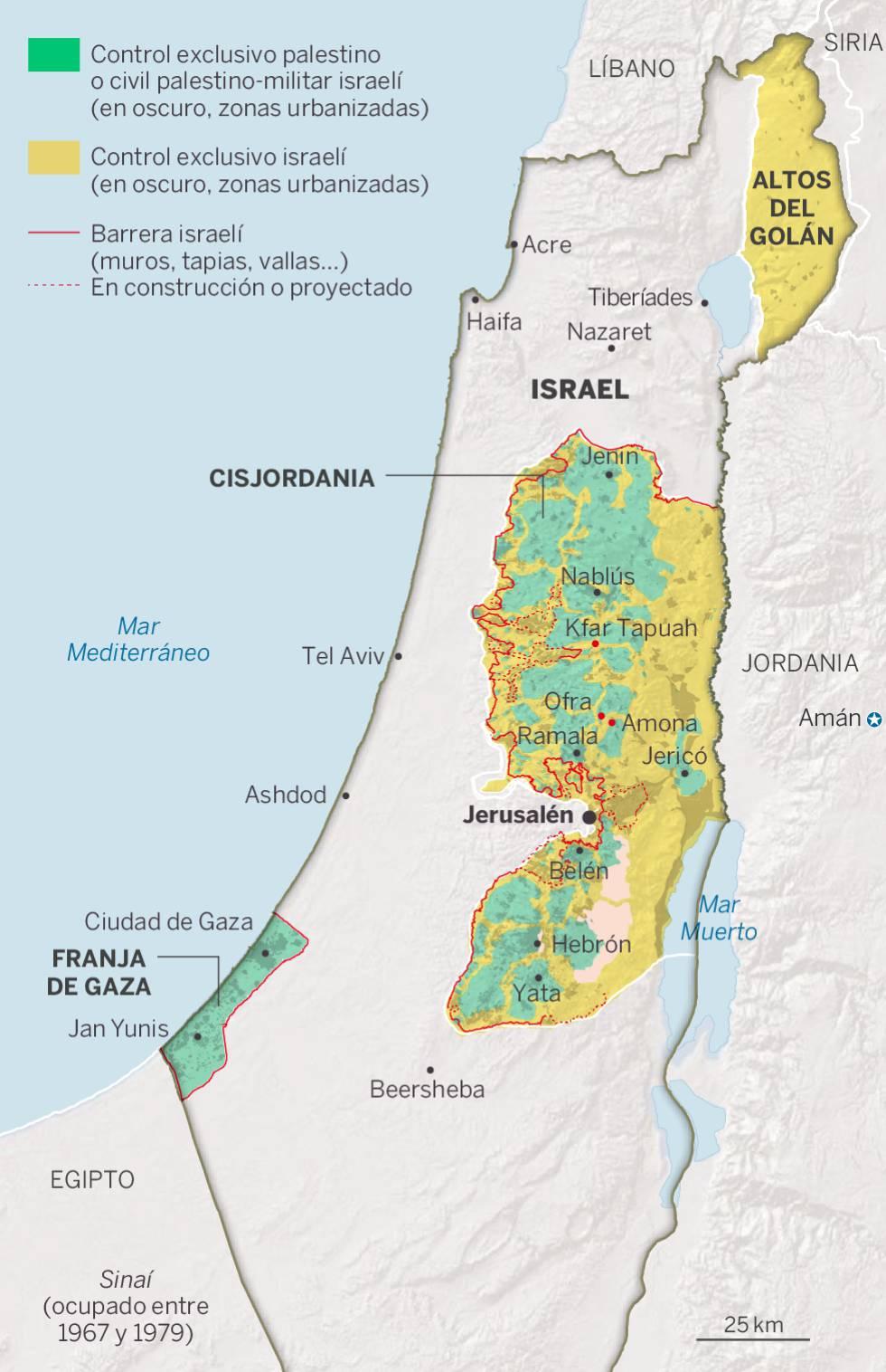 La interminable ocupación israelí de Palestina: 50 años sin paz, ni territorio