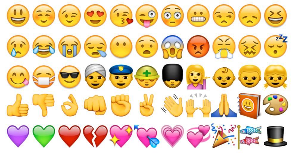 Imagen de una parte del lenguaje 'emoji'.