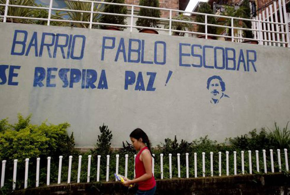 Pablo Escobars Neighborhood In Medellin Peace Is In The Air Reads The