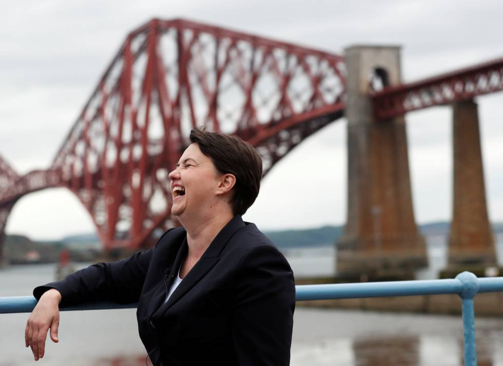 Ruth Davidson en South Queensferry, el 1 de junio.