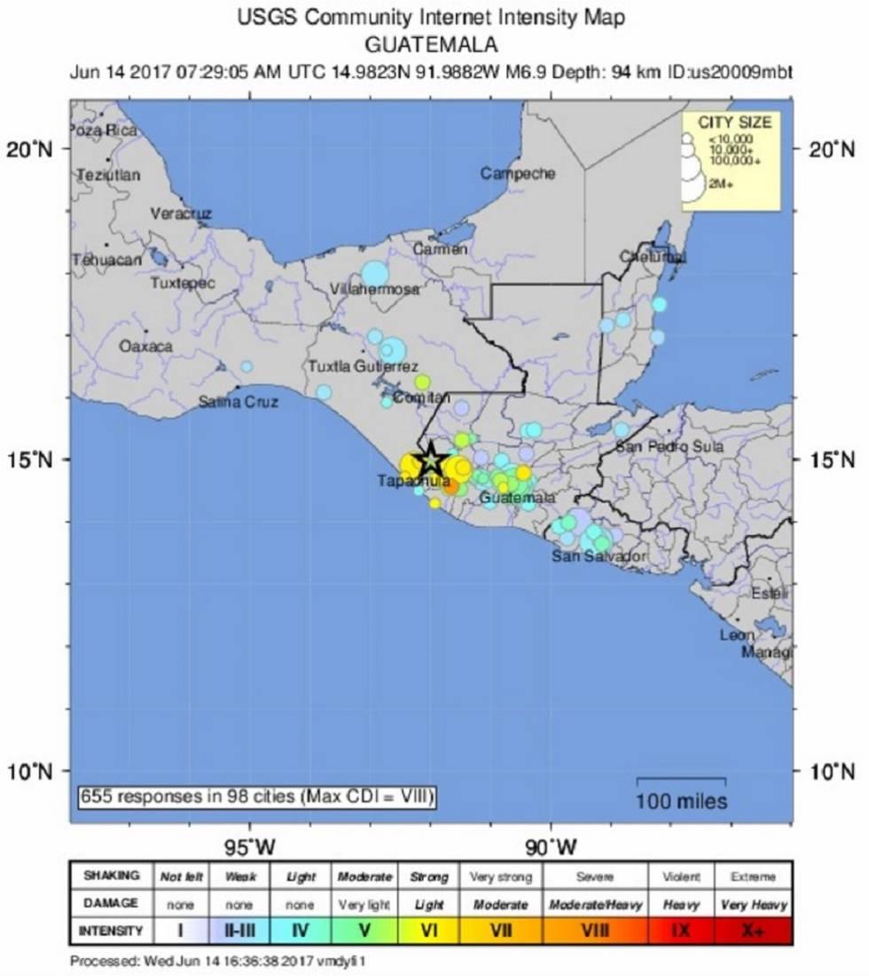 Un Fuerte Terremoto Sacude La Frontera Entre Guatemala Y Mexico Internacional El Pais