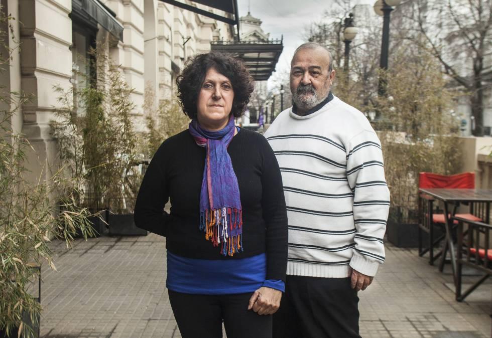 María Laura Delgadillo y Walter Docters durante la entrevista con EL PAÍS.