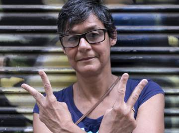 En esta imagen, la periodista venezolana Mariveni Rodríguez.