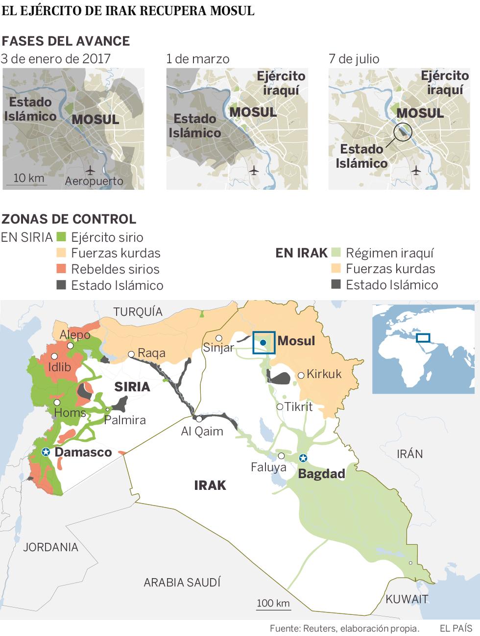 El primer ministro iraquí declara la victoria sobre el ISIS en Mosul