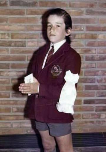 Rufino Varela en sus días de estudiante del Cardenal Newman.