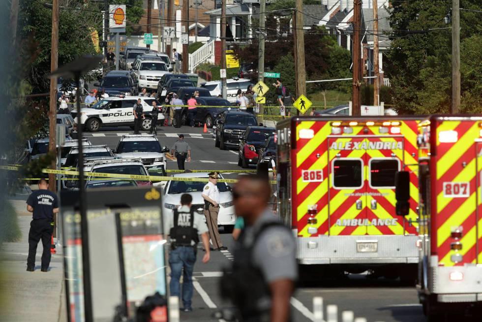 Área donde se produjo el tiroteo contra congresistas republicanos en Virginia en junio