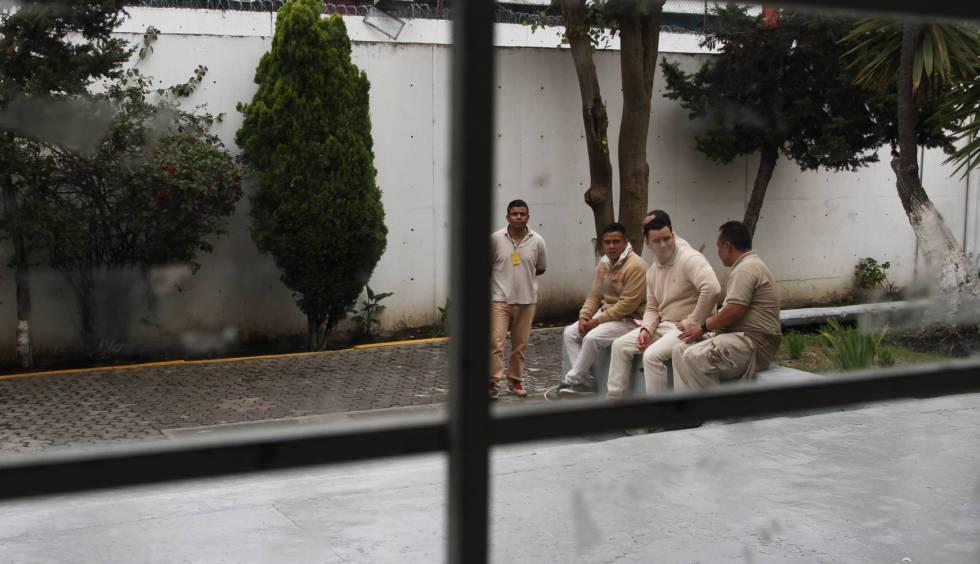 Un grupo de reos en el reclusorio sur de la Ciudad de México