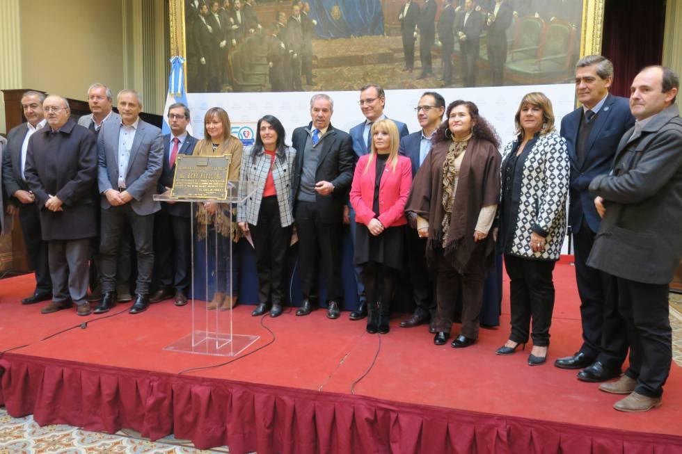 Homenaje a René Favaloro en el Congreso argentino, el pasado 11 de julio.