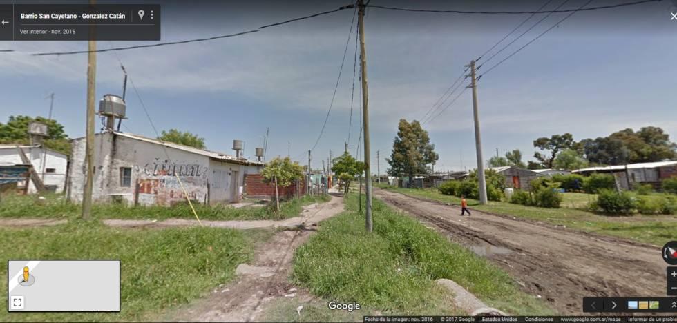 El barrio San Cayetano de La Matanza, en Google Street View.
