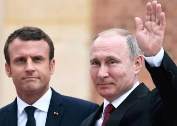 Macron y Putin mantienen el pulso en su primera reunión