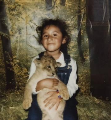 Lesvy Berlín cuando tenía seis años en la Feria de Aguascalientes. Su madre siempe le decía que era su