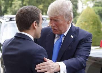 Visita de Trump a Macron en París