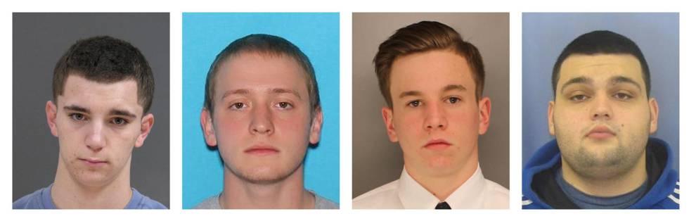 Los cuatro jóvenes desaparecidos en Pensilvania.