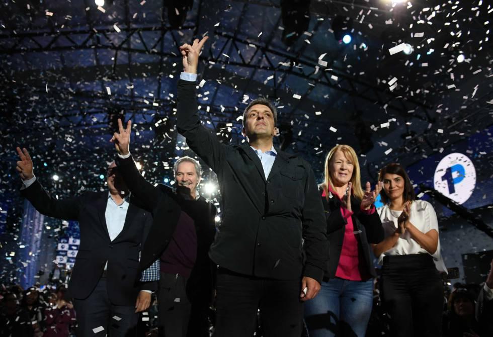 Sergio Massa presenta su precandidatura a senador por la provincia de Buenos Aires.