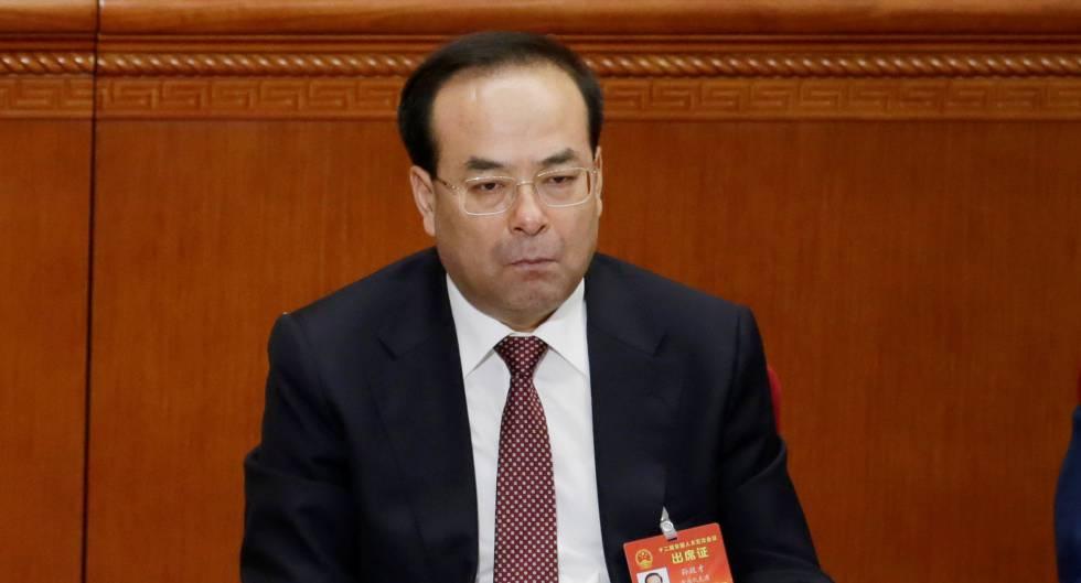 Sun Zhengcai, en la apertura de la Asamblea Nacional Popular china en marzo.