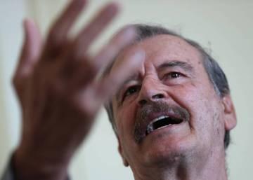 El expresidente mexicano Vicente Fox se une a una manifestación contra el Gobierno venezolano