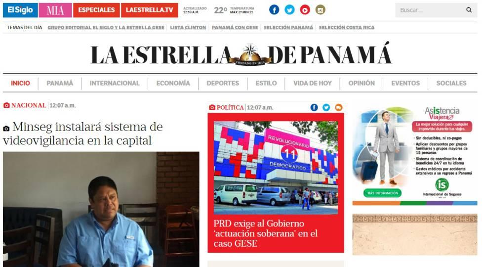 El diario decano de panam en peligro de desaparici n por for Noticias mas recientes del medio del espectaculo