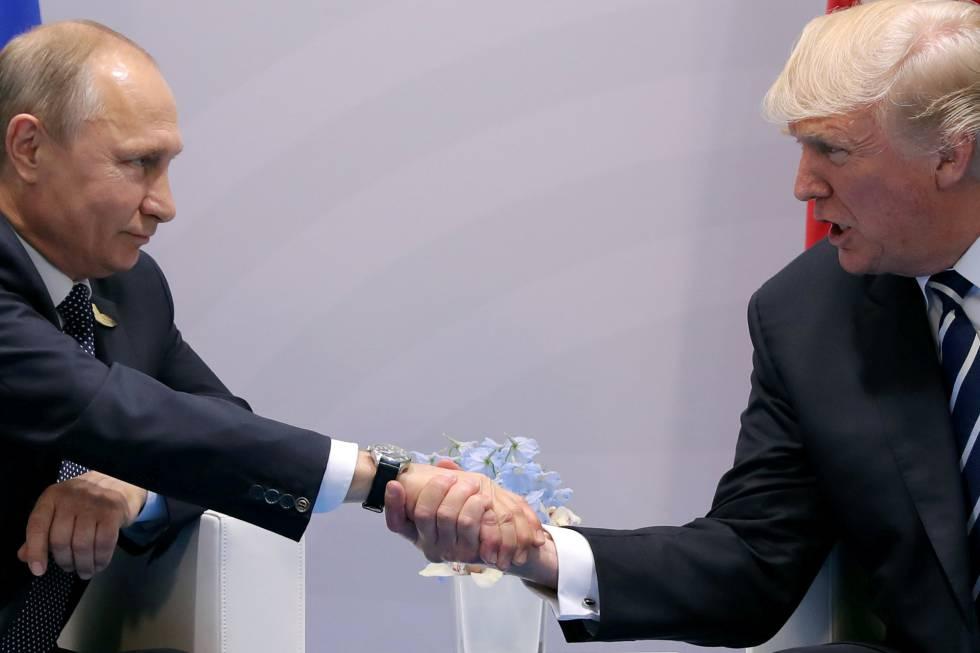 Donald Trump y Vladímir Putinen su reunión oficial en el G-20.
