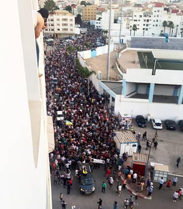 Manifestación multitudinaria en Alhucemas.