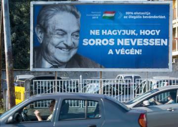Polémica por la agresiva campaña del húngaro Orbán contra el filántropo Soros